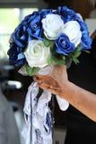 Bouquet de mariage avec une jarretière Images stock
