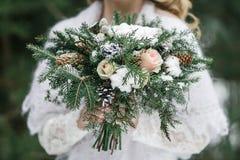 Bouquet de mariage d'hiver Images libres de droits