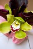 Bouquet de mariage d'orchidée photo libre de droits