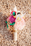 Bouquet de mariage de feutre fait main photo libre de droits
