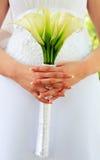 Bouquet de mariage des kallas image stock