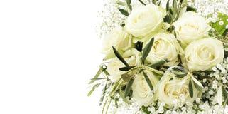 Bouquet de mariage des roses blanches Images libres de droits