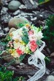 Bouquet de mariage fait en pivoine Photo libre de droits