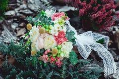 Bouquet de mariage fait en pivoine Images stock