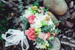 Bouquet de mariage fait en pivoine Image stock
