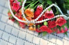 bouquet de mariage, fleurs, roses, Images libres de droits