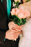 Bouquet de mariage, fleurs, roses, beau bouquet Photo libre de droits