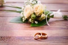 Bouquet de mariage, fond Photo libre de droits