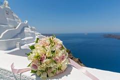 Bouquet de mariage la jeune mariée Photos stock