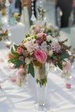 Bouquet de mariage pour la jeune mariée Images libres de droits