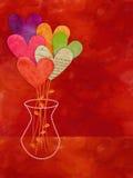 Bouquet de papier de fleur de coeur Image stock