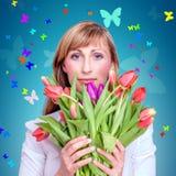 Bouquet de ressort Photographie stock
