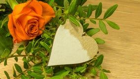 Bouquet de Rose avec un coeur Photos libres de droits