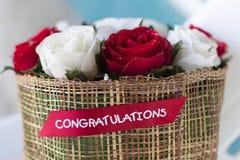 Bouquet de roses rouges - beau fond floral Images stock