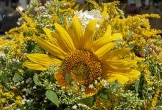 Bouquet de tournesol et d'or image stock