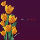 Bouquet de tulipe d'origami Images libres de droits