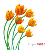 Bouquet de tulipe d'origami Photo stock