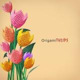Bouquet de tulipe d'origami Photos libres de droits