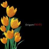 Bouquet de tulipe d'origami Photographie stock
