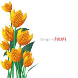 Bouquet de tulipe d'origami Photographie stock libre de droits