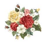 Bouquet de vintage avec des roses Photos stock