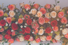 Bouquet de vintage de fleur rose Images libres de droits