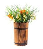 Bouquet de zantedeschia et d'herbe Photographie stock libre de droits
