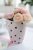 Bouquet of delicate pink roses Royalty Free Stock Photos