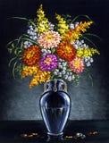 Bouquet des asters image libre de droits