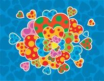 Bouquet des coeurs Photo libre de droits