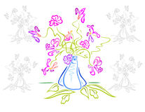 Bouquet des fleurs abstraites Illustration Stock