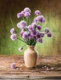 Bouquet des fleurs de ciboulette d'oignon Photographie stock libre de droits