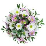 Bouquet des fleurs de Gerbera dans le vase d'isolement sur Backgroun blanc Photographie stock libre de droits