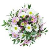 Bouquet des fleurs de Gerbera dans le vase d'isolement sur Backgroun blanc Photo libre de droits