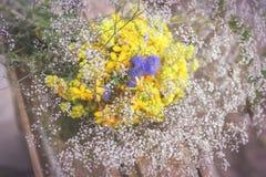 Bouquet des fleurs de jardin et des herbes curatives Photo stock