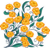 Bouquet des fleurs jaunes Illustration de Vecteur