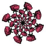 Bouquet des fleurs peintes par rose Images libres de droits