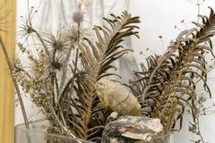 Bouquet des fleurs sèches dans un vase image stock