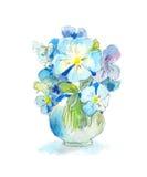 aquarelle d 39 un groupe de fleurs sauvages images libres de. Black Bedroom Furniture Sets. Home Design Ideas