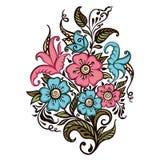 Bouquet des fleurs sur un fond blanc illustration libre de droits