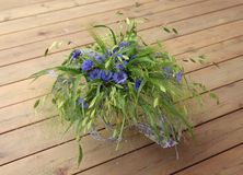 Bouquet des fleurs Vasilkov Photo stock