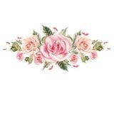 Bouquet des fleurs watercolor Photographie stock libre de droits