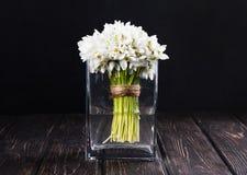 Bouquet des perce-neige dans le vase Photo libre de droits