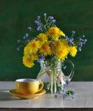 Bouquet des pissenlits Photographie stock libre de droits