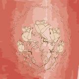 Bouquet des roses abstraites Image libre de droits