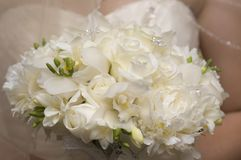 Bouquet des roses blanches Images stock