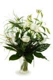 Bouquet des roses blanches et du lis Photographie stock libre de droits