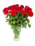 Bouquet des roses d'écarlate dans le vase Images libres de droits