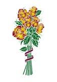 Bouquet des roses d'or Illustration de Vecteur