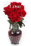 Bouquet des roses dans le vase Image stock